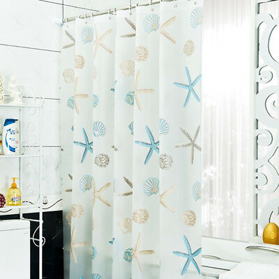 "Sea Shell Starfish Shower Curtain 70.8""x70.8"" Bathroom Water"