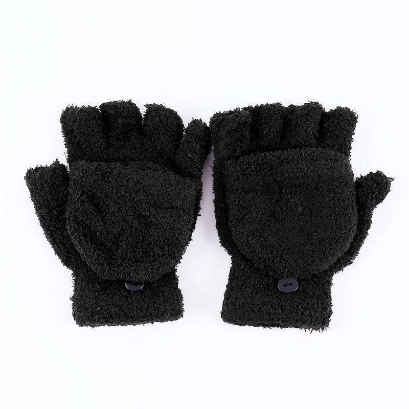 Girls Women Casual Hand Wrist Warmer Winter Fingerless Soft Gloves Mittens Q