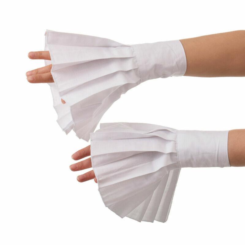 Victorian Women Wrist Cuffs Shirt Sleeve Cuffs Ruffle Adjustable Detachable Cuff