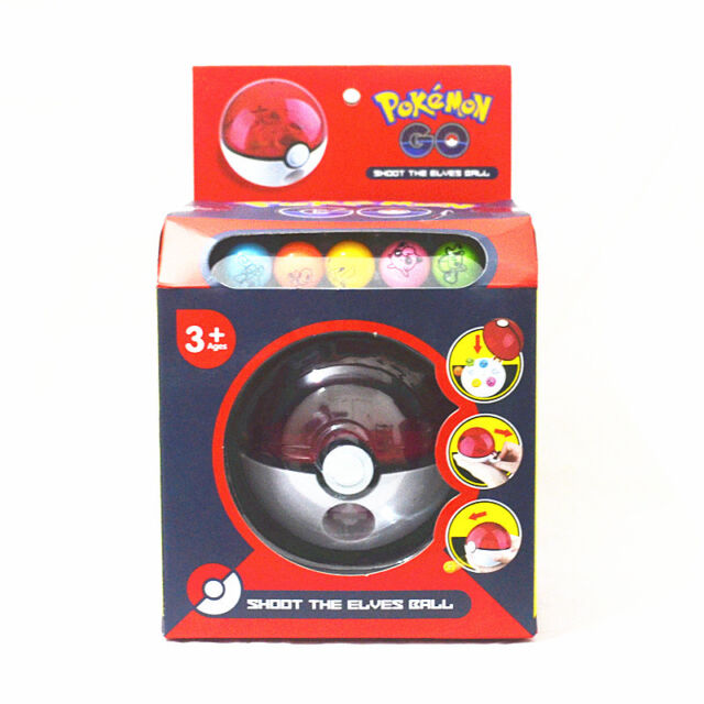 Cute Pokemon Go Pocket Monster Figure Pokeball Shoot Ball Kids Children Baby Toy