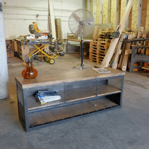 Industrial Media Console/Credenza Steel and Wood Kitchener / Waterloo Kitchener Area image 8