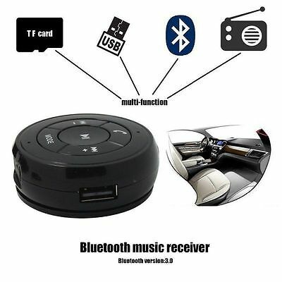 3.5mm AUX Car Wireless Bluetooth Stereo Music Audio Receiver Adapter Speaker Mic
