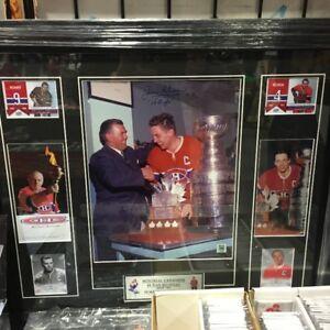 Cadre signé par Maurice Richard & Jean Beliveau (Cartes/Hockey)