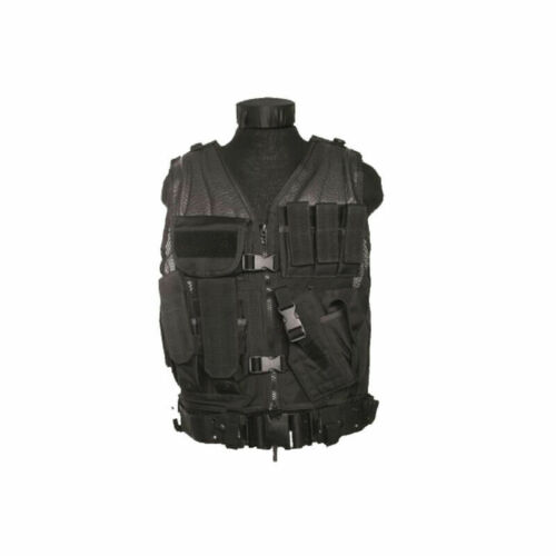 Mil-Tec USMC Combat Vest With Belt Black 10720002