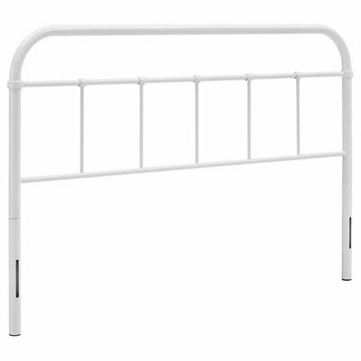 Modway Serena King Metal Spindle Headboard in White