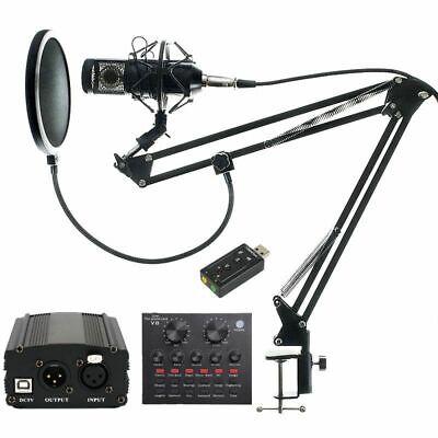 Microphone Bundle Sound Recording System Karaoke Podcast Broadcasting Pro Kit 001 Mic Kit