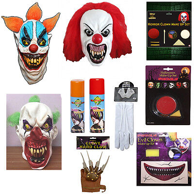 IT Clown Stuff Women Mask,Gloves,Haircolour,Makeup Halloween Horror Dress Party](Party Stuff Halloween)