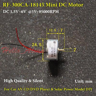 Dc 1.5v6v 3v 5v Mini 300 Solar Motor Micro Round Thin Motor For Fan Cd Player