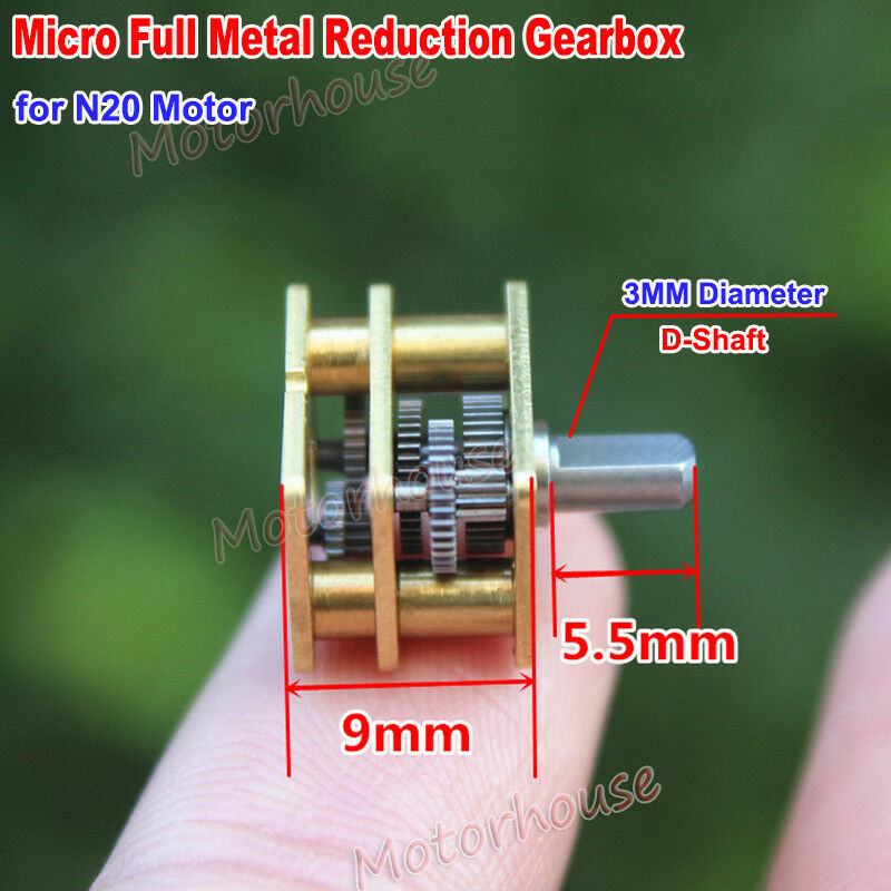 1pcs DC5V 1600rpm N20 All Metal Gearbox Speed Reduction Gear Motor for Robot Toy