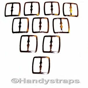 10-x-Metal-3-Bar-Slides-Buckles-for-25mm-Webbing