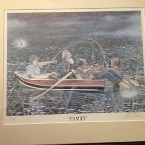 2 Albert casson prints , family and trust limited signed 40 doll Kitchener / Waterloo Kitchener Area image 2