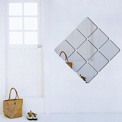 16x diy spiegelfolie wandspiegel quadrat wandspiegel deko. Black Bedroom Furniture Sets. Home Design Ideas