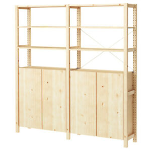 2 Ikea Shelves with Cabinet, pine (Bloor and Spadina)