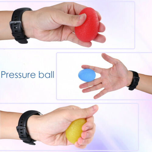 3 Stress Relief Squeeze Balls Exercise Finger Hand Grip Physical Therapy Health