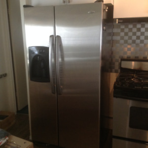 Amanda Side by Side Stainless Steel Refrigerator
