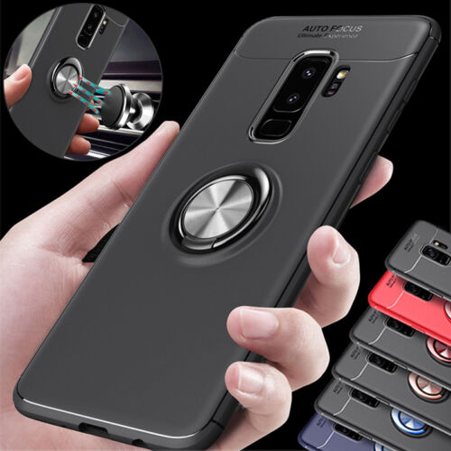 Details about Rotating Metal Magnetic Ring Stand Phone Case For Samsung S8  S9 iPhone X 5 6 7 8