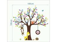 Childrens nursery wall sticker (20 available)