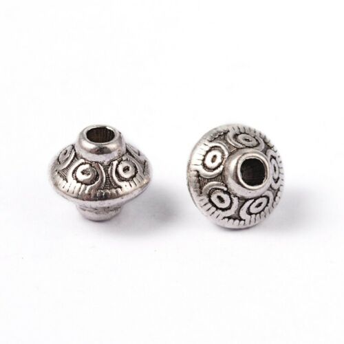 Bicone+Tibetan+Silver+Metal+Spacer+Beads+6.5mm+Pack+of+100