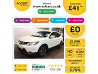 NISSAN QASHQAI WHITE HATCHBACK 1.5 1.7 DCI N-TEC FROM £41 PER WEEK!
