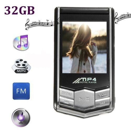 "32GB Mini 1.8/"" MP4 MP3 Video Music Player LCD Slim FM Radio Recorder Earphone"