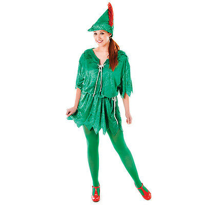 Peter Pan Female Fairy Tale Fancy Dress Costume Small Or - Peter Pan Costume Female