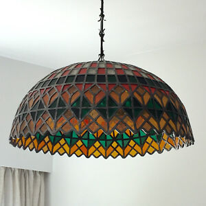 CASA VELASCO STAINED GLASS Tiffany Ceiling hanging lamp C