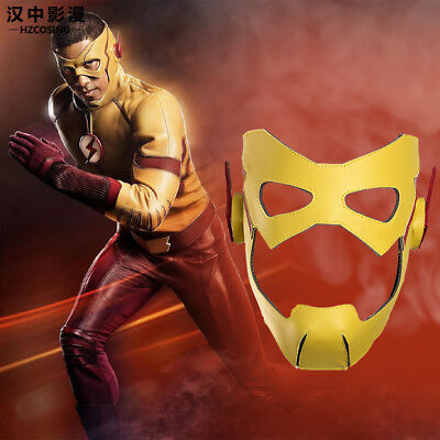 The Flash Kid Flash Cosplay Prop Mask For Halloween Christmas Leather - Masks For Halloween Cheap