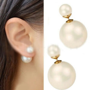 front and back pearl earrings front back earrings ebay 9136