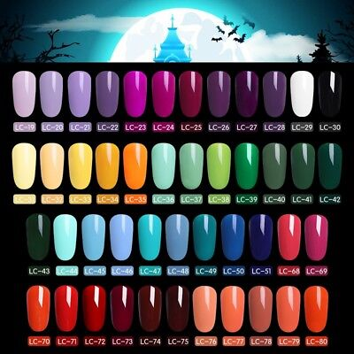 LILYCUTE Gel Halloween Party UV LED Lamp Nail Art Soak Off Gel Nail Polish - Uv Halloween Party