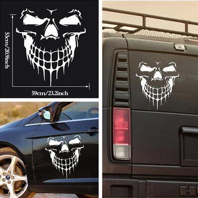 Fashion Car Truck Tailgate Window Skull Hood Decal Vinyl Large Graphic Sticker covid 19 (Fashions Correct Shadow coronavirus)