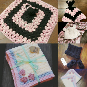 Handmade Baby Blankets, Hats and Booties