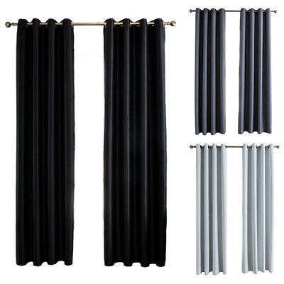 Window Curtain Darkening Blackout Room Thermal Insulated 2 P