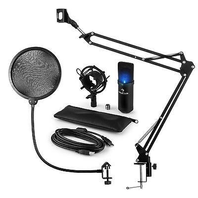 auna MIC-900B-LED USB Mikrofonset V4 Kondensatormikro Pop-Schutz Mikrofonarm LED 900 Usb