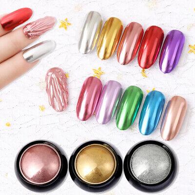 Nail Art Glitter Mirror Powder Metallic  Chrome Dust Pigment Decorations - Metallic Decorations