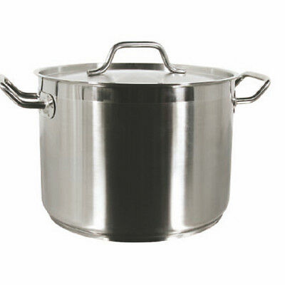 Thunder Group 12 QT 18/8 Stainless Steel Stock Pot With Lid SLSPS012 New