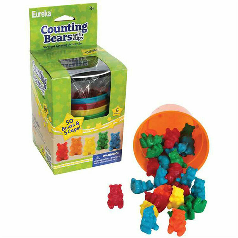 50 Counting Bears with 5 Cups Brand New