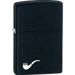 New Zippo Pipe Insert Black Matte Finish Pipe Lighter Full Size Windproof 218PL