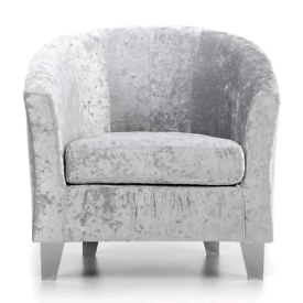 Dunelm Starlet Tub Chair - Silver Seat