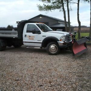 2003 Ford F-550 4x4 with Dumpbox, V plow and salt spreader