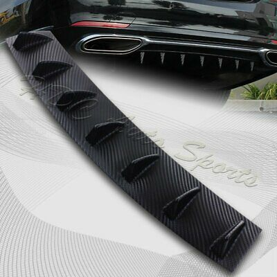 "1 x Carbon Style Rear Lower Bumper Diffuser Fin Spoiler Lip Wing Splitter 34""x6"""