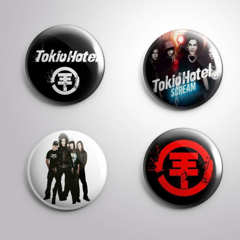 4 TOKIO HOTEL -  Pinbacks Badge Button 25mm 1