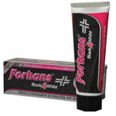 FORHANS Black 4 White DENTIFRICIO SBIANCANTE nero al carbone attivo - 75 ml