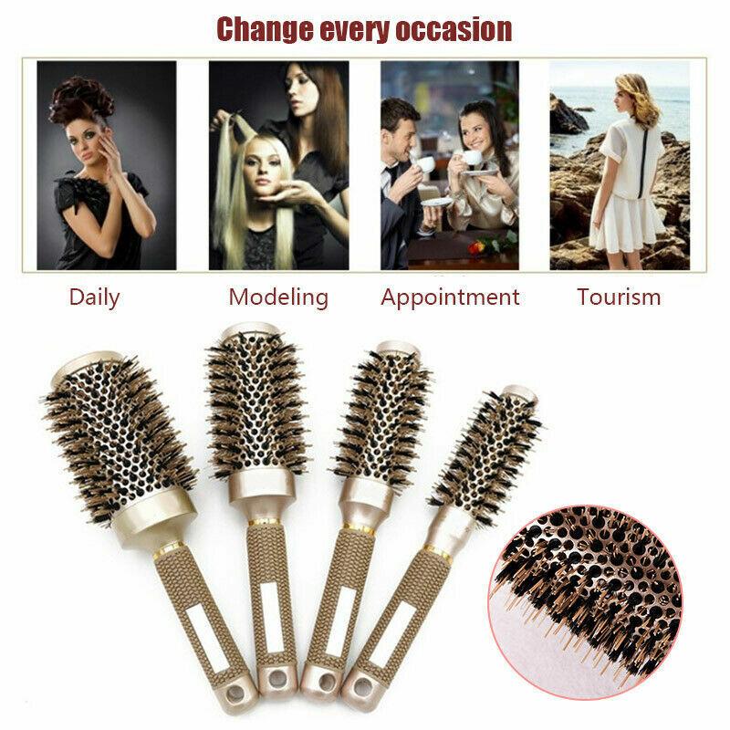 Pro Salon Hair Brush Thermal Ceramic Ionic Round Barrel Comb
