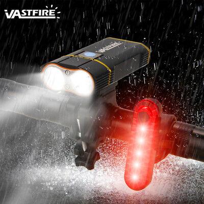 Doble luz delantera LED para bicicleta 6000lm Lámpara de brillo usb recargable...