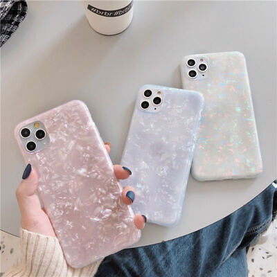 Case For iPhone 11 8 7 Plus Pro MAX XR ShockProof Marble Phone Silicone Cover