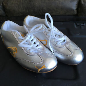 PUMA sneakers silver & gold - Size 6