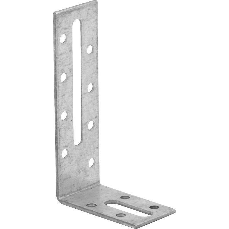 Qualit/ät Silber 50 St. KOTARBAU Winkelverbinder 75 x 75 x 55 mm mit Rippe Sicke Lochwinkel Bauwinkel Holzverbinder Balkenwinkel Verbinder Winkel Top