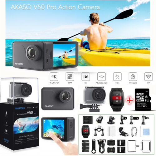 как выглядит Видеокамера AKASO V50 Pro Native 4K/30fps 20MP WiFi Action Camera LCD Touch Screen + 32G SD фото