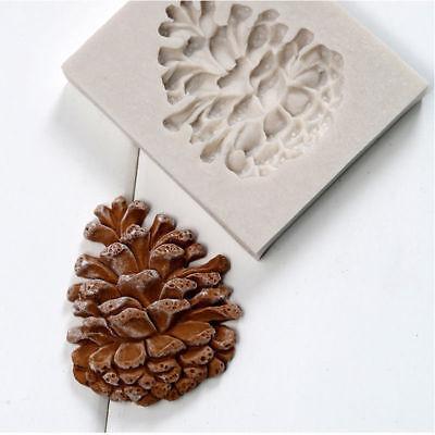 Silicone Christmas Pine Nut Fondant Cake Sugarcraft Mould Chocolate Baking Mold ()