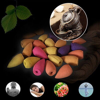 70pc Incense Backflow Back Flow Cone Scents Natural Fragrance without Holder E99